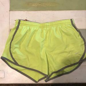Neon girls Nike shorts